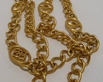 SIGNED Monet Vintage Chain Belt/Necklace