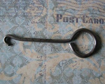 Antique Metal Button Hook Steampunk Altered Art Assembleage
