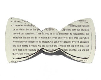 Book Page Bow Tie