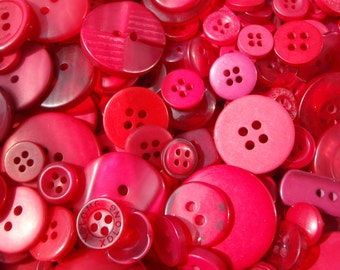 Red Sewing Button Mix 5 to 30mm
