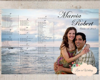 Custom Photo Seating Chart: Great for a Wedding Anniversary, Rehersal Dinner and more - Printable Digital File