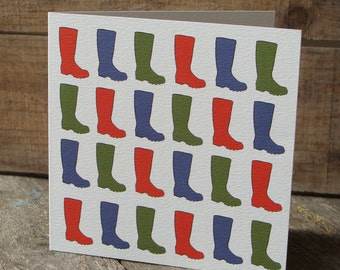 Welly Boots Card