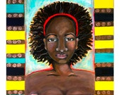 African American Woman, I am Enough, Original Painting