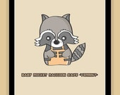 Baby Rocket Raccoon Nursery Art modern print poster Guardians of the Galaxy