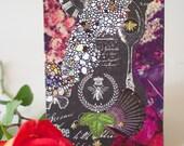 "Handmade, Mixed Media Journal & Sketch Book—""Nature Medicine"""
