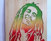 Bob marley wooden picture wall art scroll saw