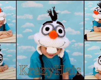 Crochet  Snowman Beanie/Hat.
