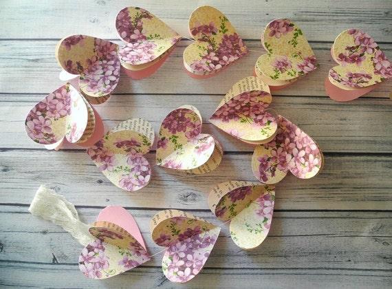 floral heart garland