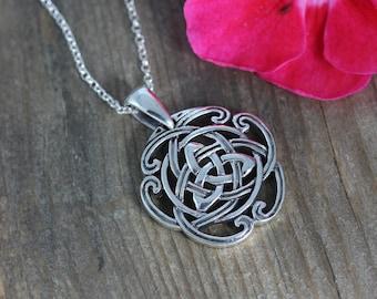 Celtic Triquetra Jewelry, Celtic Triquetra Knot Necklace, Celtic Jewelry, Celtic Knots Necklace, Never ending Love Friendship , 068