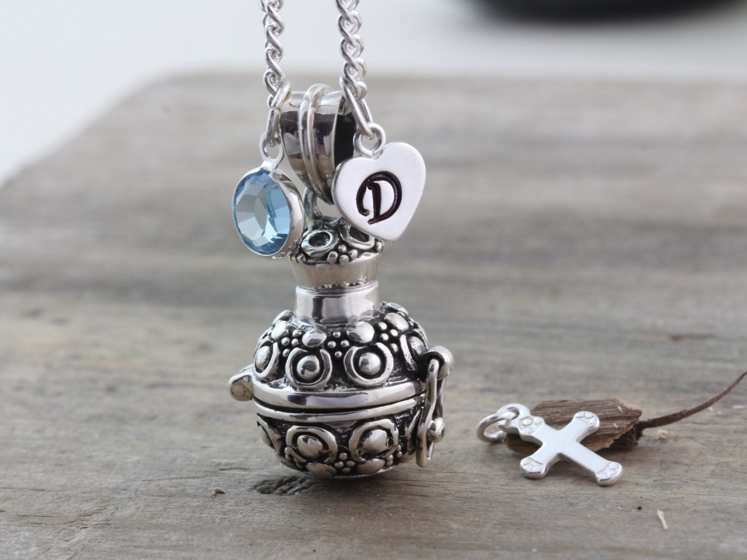 sterling silver cremation urn necklace cremation jewelry