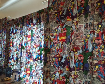Comic Book Curtain for Kids Room or Bachelor Pad