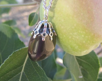 Apache Tear Tumbled Stone Necklace