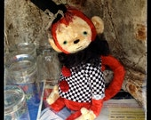 PDF Epattern for 12 inch Artist Mohair Teddy Monkey Benjamin - the patterns for the circus shirt and top hat are included