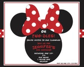 Minnie Mouse Custom Invitation - Digital