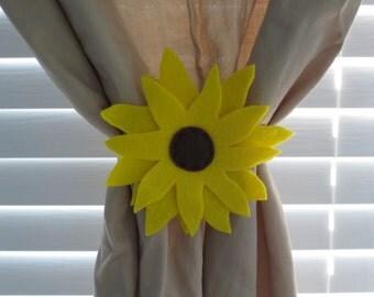 Sunflower Curtain Tie-backs (Set of 2)