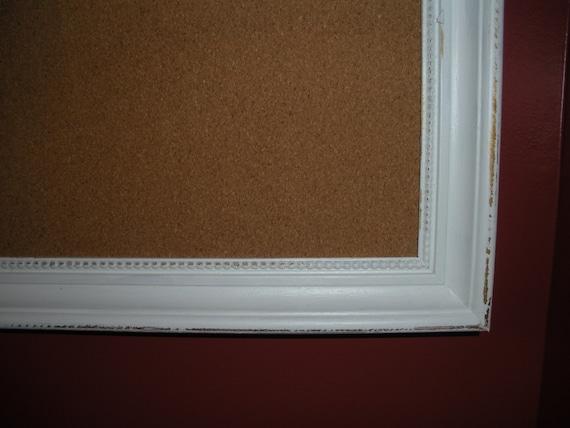 large framed bulletin board vintage frame cork board 36 5. Black Bedroom Furniture Sets. Home Design Ideas
