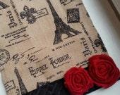 Valentine French Burlap Table Runner