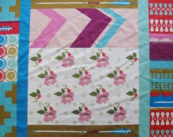 Melody Miller Ruby Star Polka Dot  Patchwork Color B -  One Yard Panel