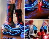 """Platform """"Pennywise"""" CLown LED Boots"""