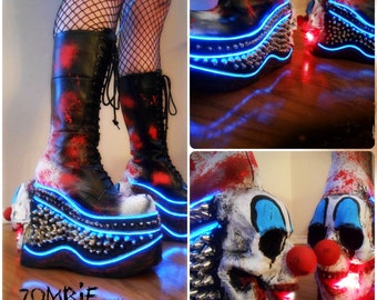 Platform Killer CLown LED Boots