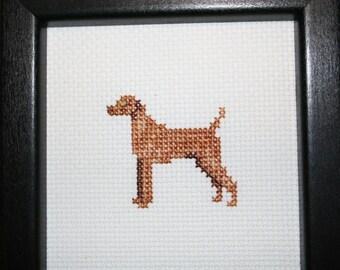 Vizsla Cross Stitched Full Body Dog.