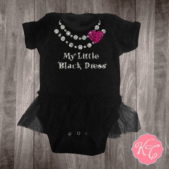 Items Similar To My Little Black Dress Onesie Tutu With