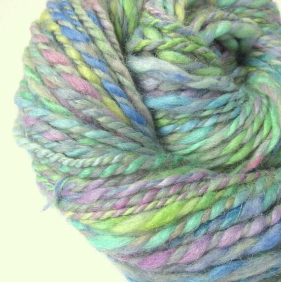 Knitting Handspun Wool : Handspun bulky chunky yarn knitting wool yards