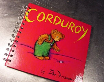 CORDUROY JOURNAL VINTAGE Altered Book