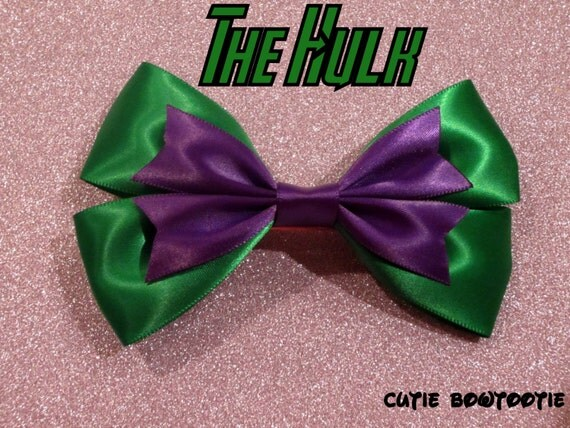 The Incredible Hulk Hair Bow from The Avengers
