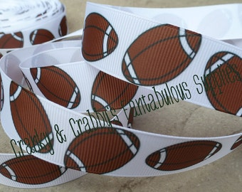 """7/8"""" Football  - Brown and White - Sports  - Fall  - 1yd, 3yd or 5 yd"""