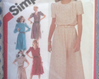 Simplicity 5434 Vintage Dress Sewing Pattern
