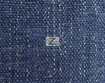 """Sparkle Chenille Upholstery Fabric - NAVY BLUE - 57"""" Width Sold By The Yard"""