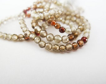 Zircon Rounds, AAA, Micro Faceted, Half Strand, aaagems, 2-2.5mm, 8 Inches