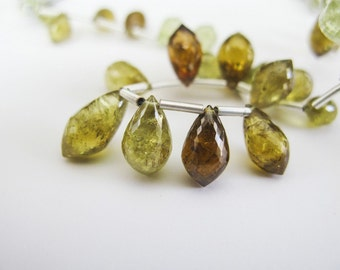 Grossular Garnet Chandelier Briolettes, AAA, 9-12mm, Half Strand, aaagems, 12 Grossular Beads