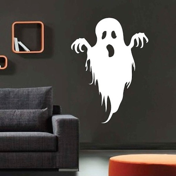 spooky ghost wall decal halloween decals teenagers wall. Black Bedroom Furniture Sets. Home Design Ideas