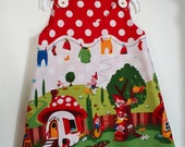 gorgeous little gnome dress for baby girls and toddlers