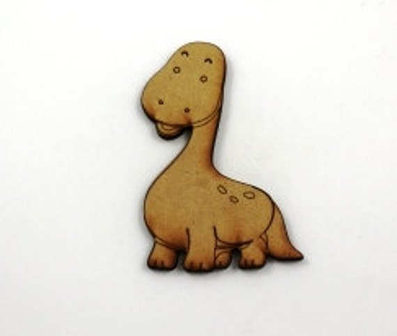Lasercut Craft Wood Cute Dinosaur– Set of 2. 60 mm Wide Cute Dinosaur. Made of Craft Wood Perfect for Embellishing, Wood Crafts
