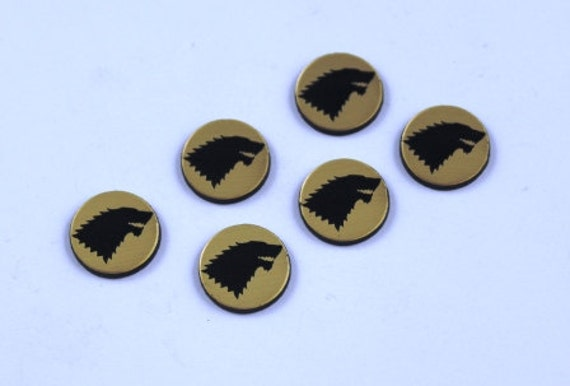 Laser Cut Supplies-8 Pieces.Lasercut acrylic Game of Thrones House Stark.15 mm Wide Game of Thrones.Made of Acrylic Craft Supplies