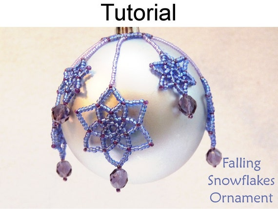 Beading Tutorial Pattern Beaded Christmas Ornaments