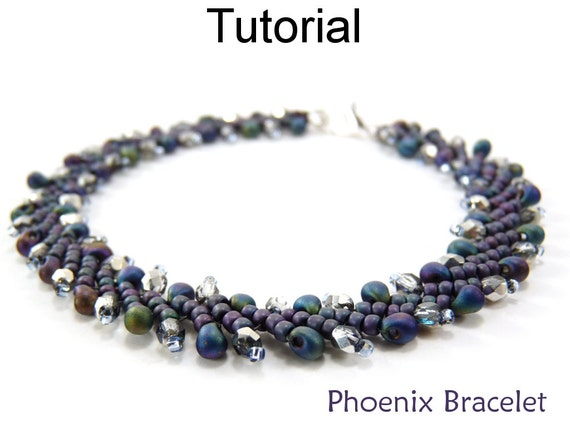 Jewelry making beading tutorial bracelet st petersburg for Simple beaded jewelry patterns