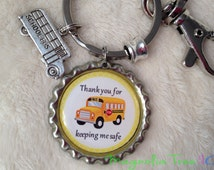 Personalized School BUS DRIVER Key Chain, Gift, Key Ring, Bookmark, School Bus, Bus Driver Present