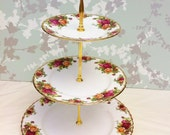 Old Country Roses, 3 Tier Cake Stand, Royal Albert
