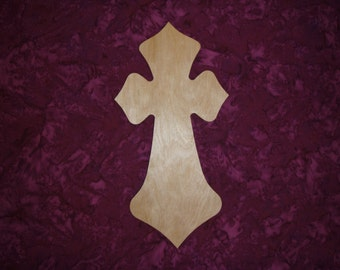 Wood Cross Unfinished Wooden Crosses Stainable Paintable Crafts  Part C11-147