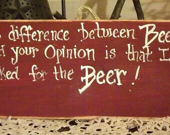 Funny BEER sign/ wooden beer sign for men