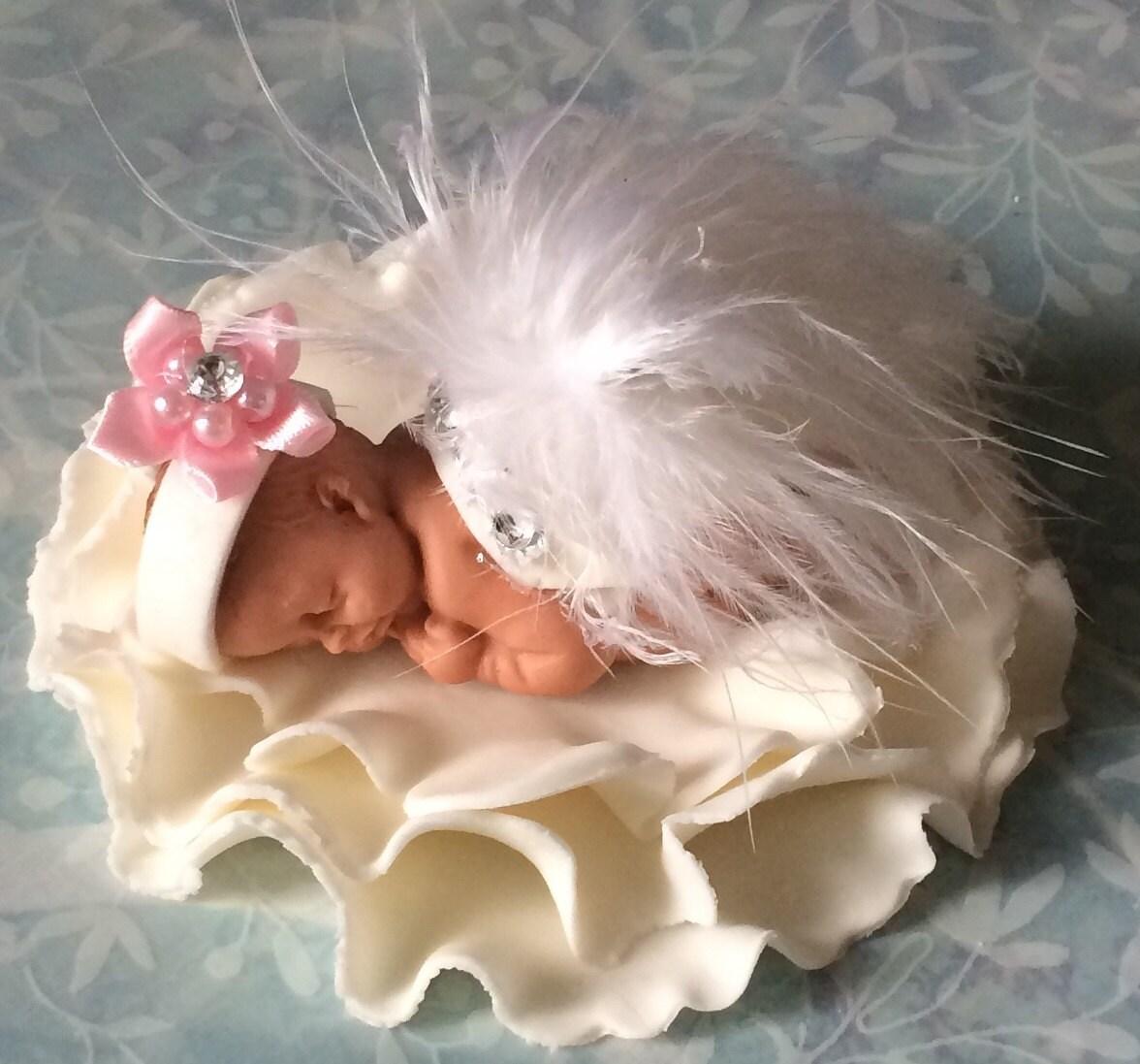 tutu baby shower cake topper fondant cake topper baby girl