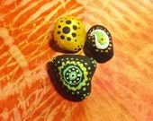 black and gold stones