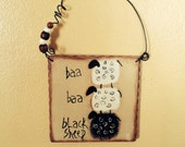 Primitive Baa Baa Black Sheep Sign