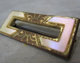 victorian brooch mother of pearl 1910s