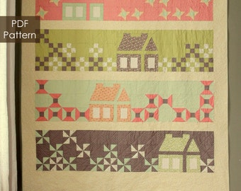 Calling Me Home - PDF queen size quilt pattern - instant download pattern by Robinson Pattern Company