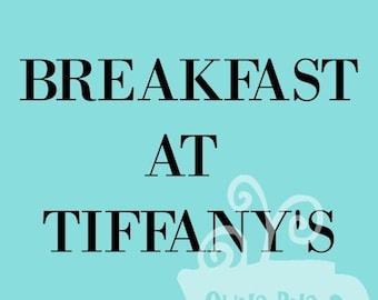 Digital Download, Breakfast at Tiffanys, Holly Golightly, Audrey Hepburn, Quote Print